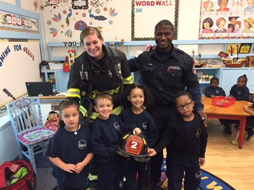 Visit from firefighters