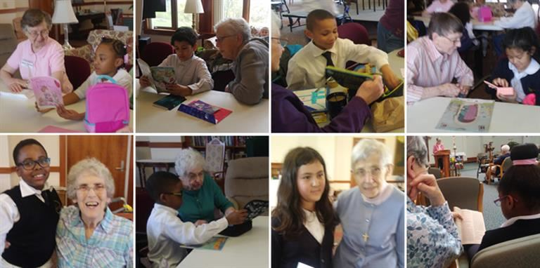 Pen Pals Visit SSJ Motherhouse