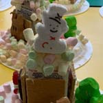 Gingerbread Houses Made by First Graders