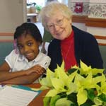 Second Graders Visit the SSJ Motherhouse for a Tea Party with Their Pen Pals